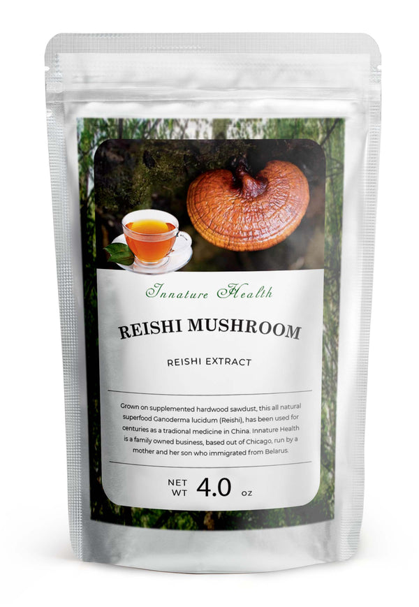 Red Reishi Mushroom Powder (4 oz) – Stress and Immune Support – Sleep Promoting