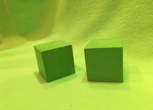 Two Green Cubes