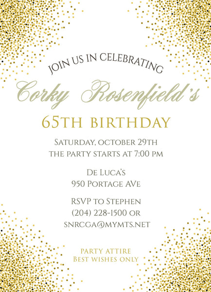 Glitter Birthday Invitation