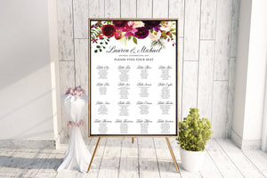 Marsala Floral Seating Chart
