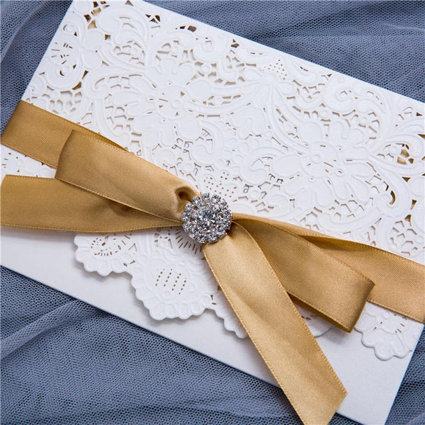 Lacey Pocket Lasercut Invitation (WPL0010)