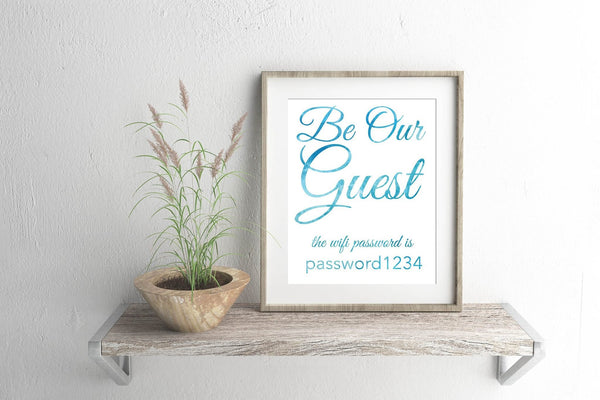 Be Our Guest Wifi Sign