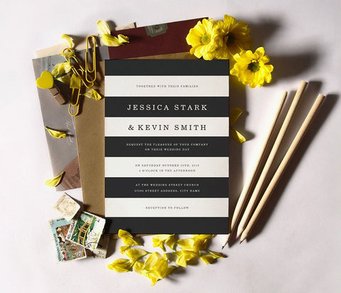 Chic Stripes Invitation Suite