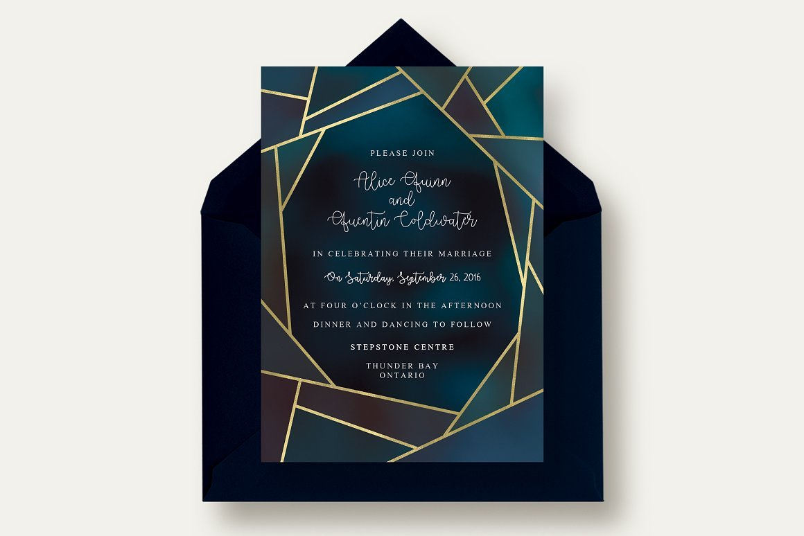 Chic Geometric Invitation Suite