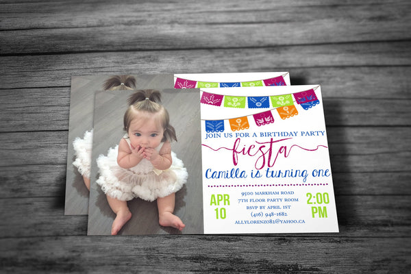 Photo Cinco de Mayo Birthday Invitation