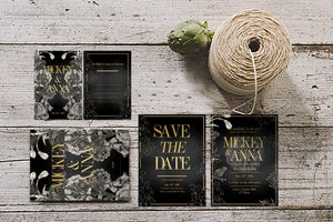 Classic Foliage Invitation Suite
