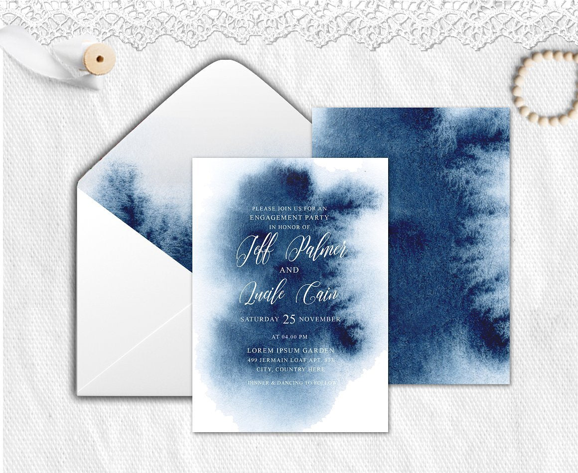 Indigo Invitation Suite
