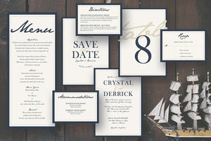 Deep Blue Sea Invitation Suite