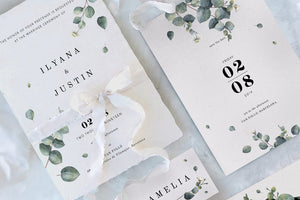 Eucalytus Invitation Suite