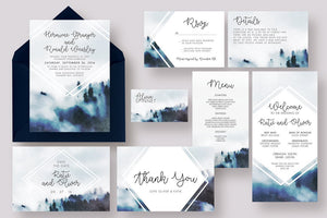 Foggy Woods Invitation Suite