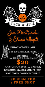 Halloween Themed Jack & Jill Ticket