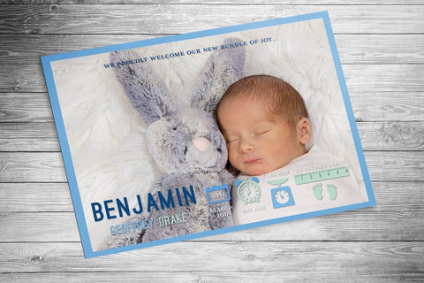 Light Blue Birth Announcement