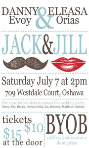 Lips & Moustache Jack & Jill Ticket