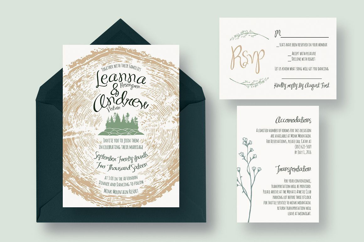 Tree Ring Invitation Suite