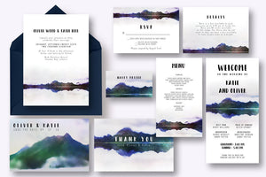 Mountain Reflection Invitation Suite