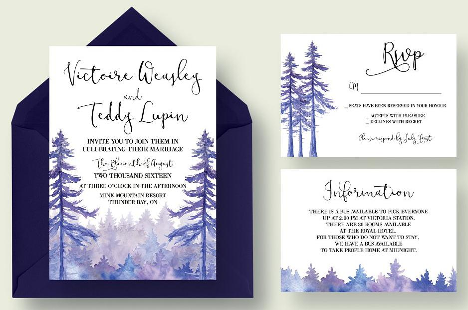 Enchanted Forest Invitation Suite