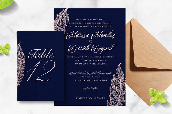 Feather Invitation Suite
