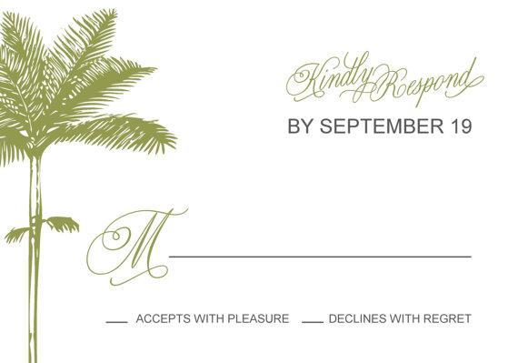 Palm Tree Wedding Invitation Suite