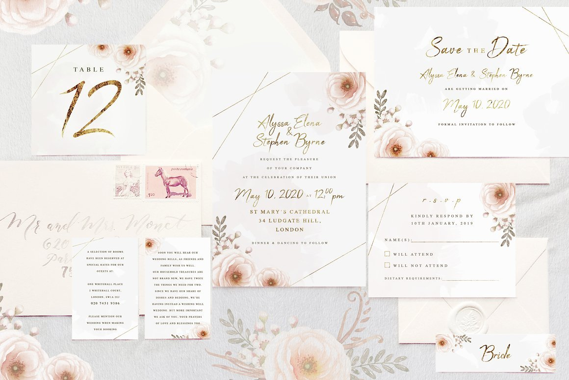 Whimsical Invitation Suite