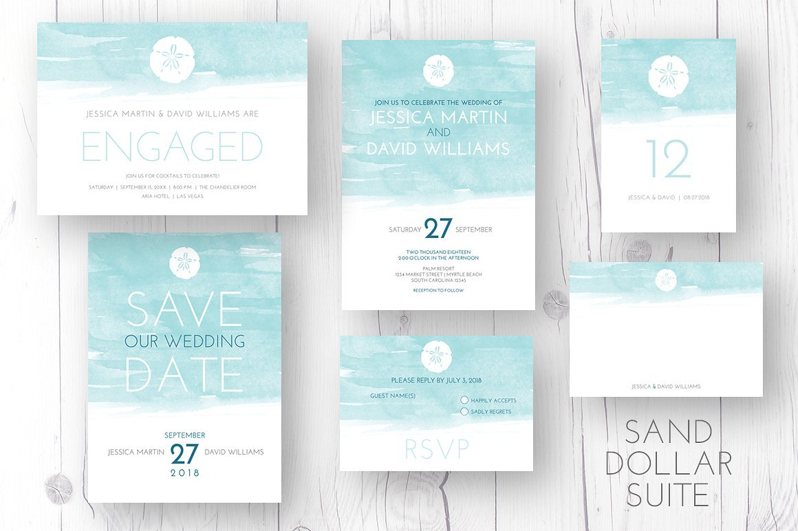 Sand Dollar Invitation Suite