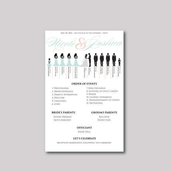 Silhouette Wedding Program