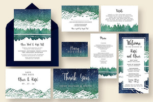 Starry Reflection Invitation Suite