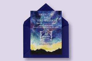 Starry Sky Invitation Suite