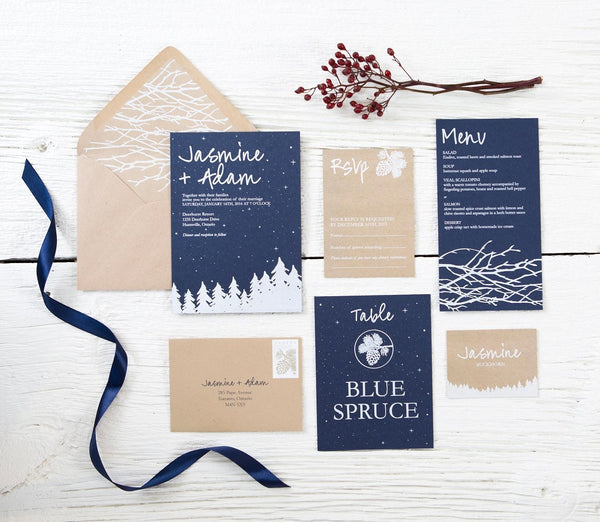 Winter Wonderland Invitation Suite
