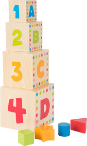 ABC Stacking Shape Sorting Cubes
