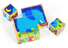 Load image into Gallery viewer, 9pcs Animal Cube Puzzle Malta