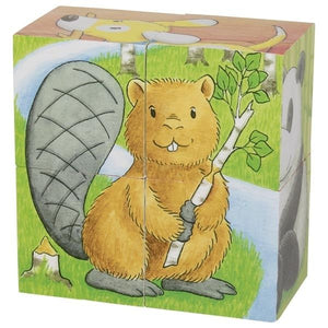 Animals Cube Puzzle 4pcs
