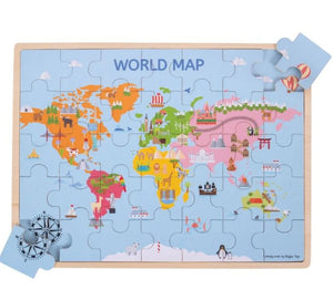 World Map Wooden Puzzle