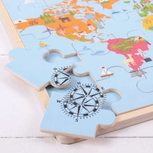 Load image into Gallery viewer, World Map Wooden Puzzle
