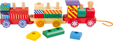 Load image into Gallery viewer, Colourful Wooden Stackable Train