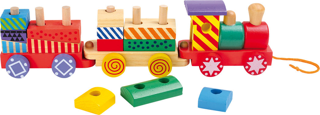 Colourful Wooden Stackable Train