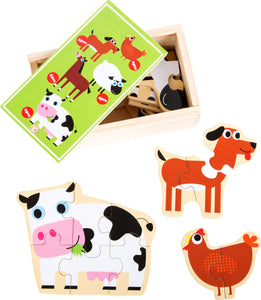 Farm Animals Puzzle Box