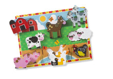 Load image into Gallery viewer, Farm Animals Chunky Puzzle