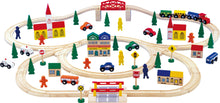 Load image into Gallery viewer, Wooden Railway Set Large
