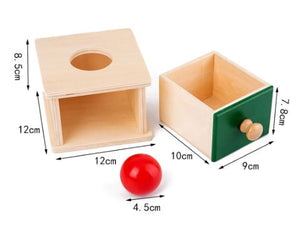 Montessori Object Permanence Box Drawer with Sphere