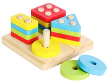 Load image into Gallery viewer, Montessori Shape  Stacking Set 4 in 1 Malta