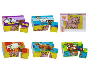 Farm Animals Cube Puzzle 6pcs
