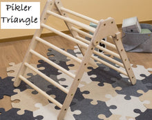 Load image into Gallery viewer, Pikler Triangle - Wooden Climbing Frame - Malta