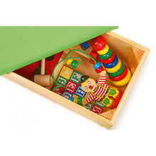 Load image into Gallery viewer, Play-Rest Wooden Bench with Toys