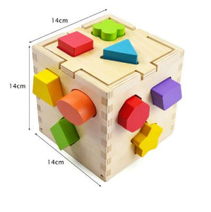 Wooden Shape Sorting Cube Toy Malta