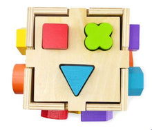 Load image into Gallery viewer, Wooden Shape Sorting Cube Toy Malta