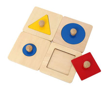 Load image into Gallery viewer, Montessori Single Shape Puzzle Set