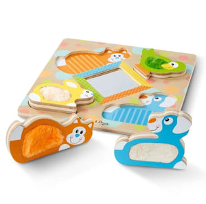 Pets Touch & Feel Wooden Puzzle