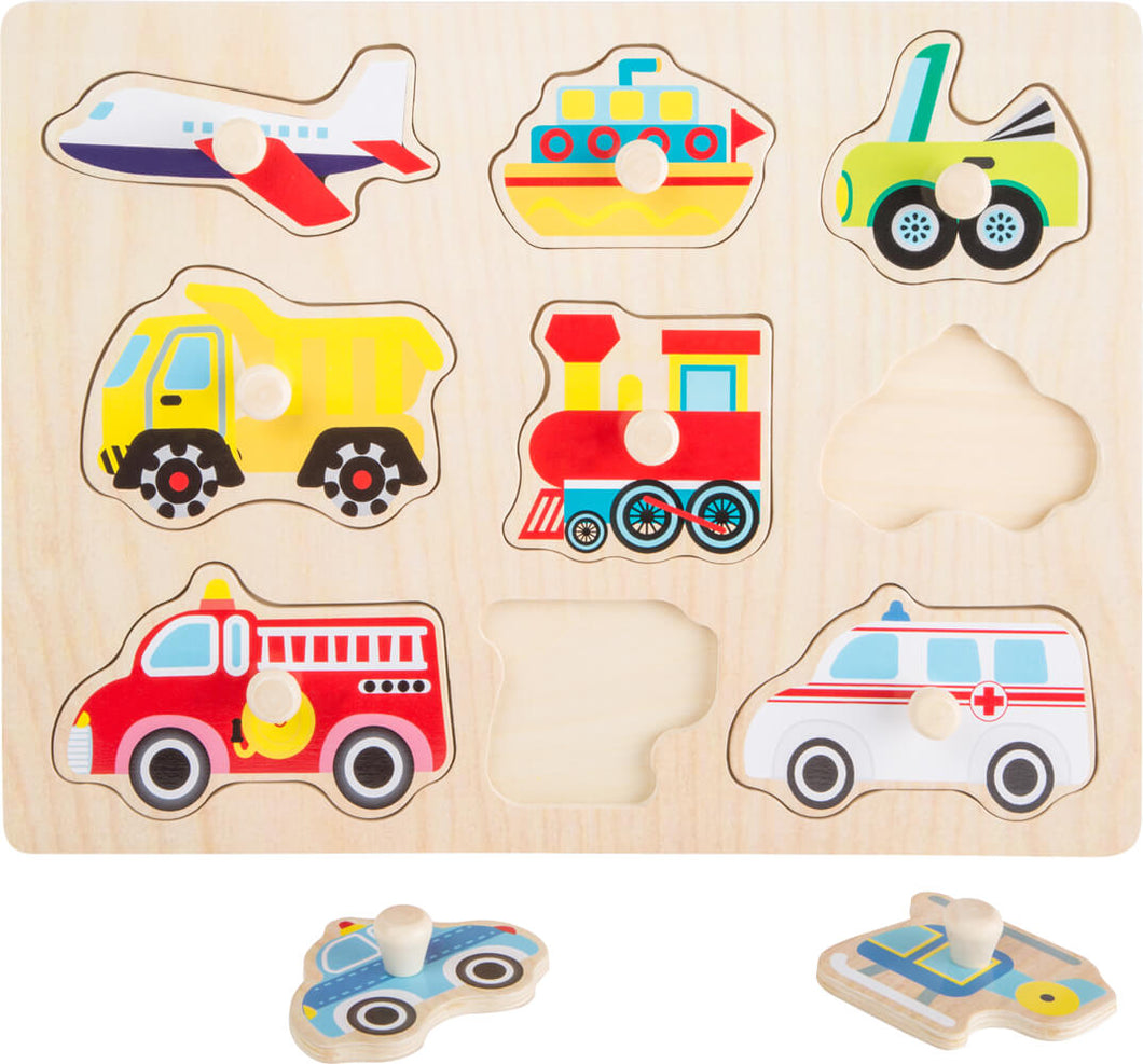 Vehicles Wooden Peg Puzzle