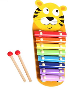 Wooden Xylophone Tiger Face Toy - Malta