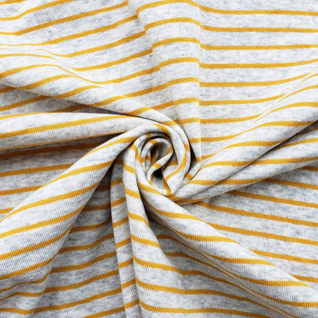 1x1 Yarn Dyed Striped Rib Knit - Yellow Stripes